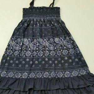 O Oshkosh girls blue Paisley summer dress size 3T